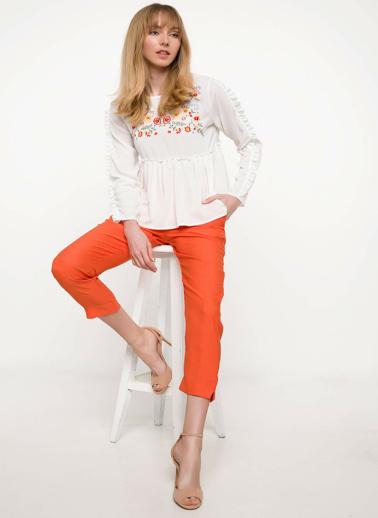 DeFacto Slim Fit Pantolon Oranj
